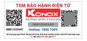 konox tem bảo hành