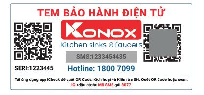 Konox tem bảo hành sản phẩm