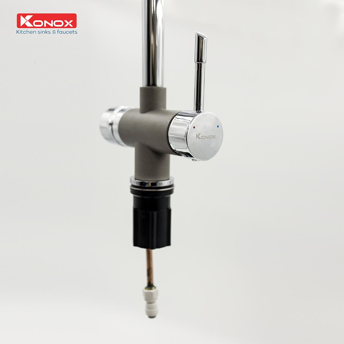 vòi rửa bát Konox Trim-Water Grey - Kitchen Faucet (3)